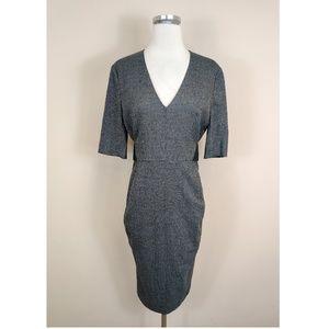 Sportmax Plaid Wool Midi Pencil Dress